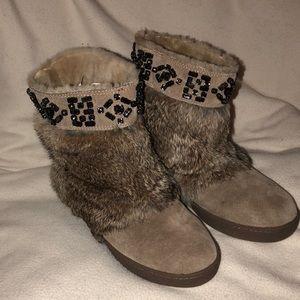 NEW Tory Burch Fur Boots!
